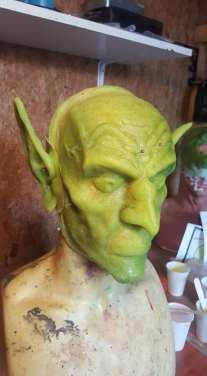 Green goblin green makeup